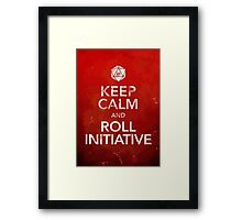 D&D Keep Calm Framed Print