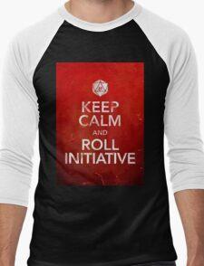 D&D Keep Calm Men's Baseball ¾ T-Shirt