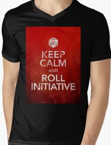 D&D Keep Calm Mens V-Neck T-Shirt