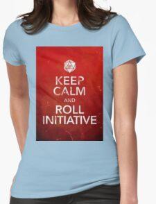 D&D Keep Calm Womens Fitted T-Shirt