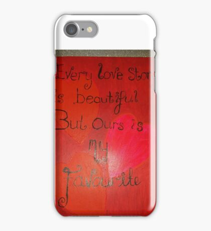 Hearts and quote design  iPhone Case/Skin
