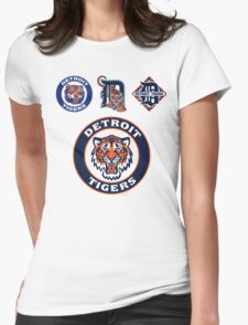 DETROIT TIGERS LOGO Womens Fitted T-Shirt
