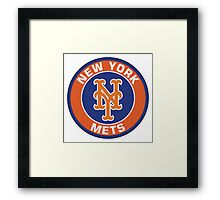 NEW YORK METS LOGO Framed Print