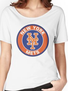 NEW YORK METS LOGO Women's Relaxed Fit T-Shirt