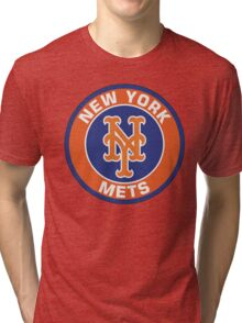 NEW YORK METS LOGO Tri-blend T-Shirt