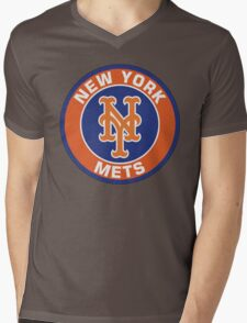 NEW YORK METS LOGO Mens V-Neck T-Shirt