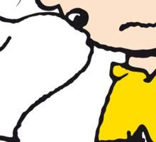 Snoopy Kisses Charlie Sticker