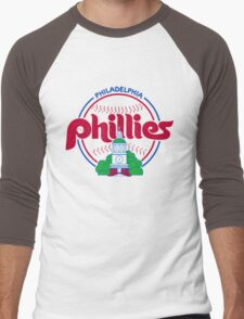 PHILIES LOGO Men's Baseball ¾ T-Shirt