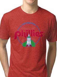 PHILIES LOGO Tri-blend T-Shirt