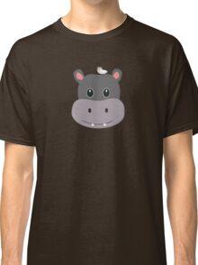 cute hippo with bird Classic T-Shirt