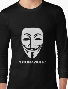 ANONYMOUS [white] Long Sleeve T-Shirt