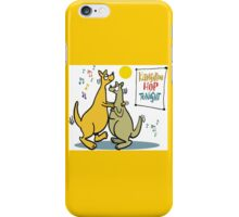 Cartoon of two kangaroos dancing together at disco iPhone Case/Skin