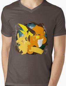 Raichu badge Mens V-Neck T-Shirt