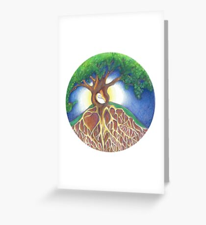 SANCTUARY Moonrise Permaculture Logo Greeting Card