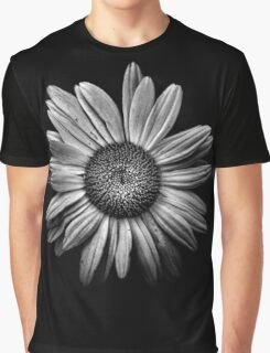 Backyard Flowers In Black And White 13 Graphic T-Shirt