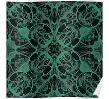 PATTERN GREEN MARBLE Poster