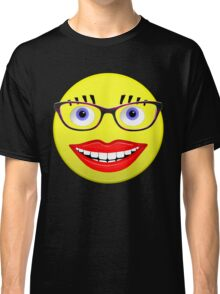 Smiley Female With Glasses and a Big Smile Classic T-Shirt