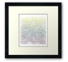 Rainbow Sea silk-screen print Framed Print