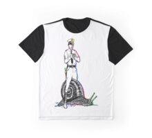 Cop riding a snail Graphic T-Shirt