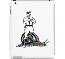 Cop riding a snail iPad Case/Skin
