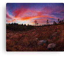 Beautiful vibrant sunset clouds landscape Canvas Print
