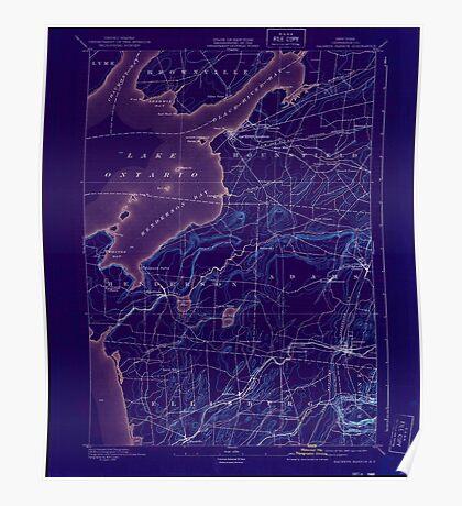 New York NY Sackets Harbor 129273 1895 62500 Inverted Poster