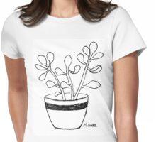 Succulent love (Echeveria seedlings) Womens Fitted T-Shirt