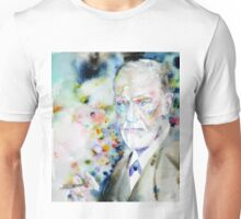 SIGMUND FREUD - watercolor portrait.9 Unisex T-Shirt