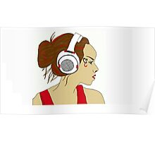 Headphone Chick Poster