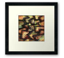 Broken textures by rafi talby Framed Print