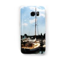 Docked Cabin Cruiser Samsung Galaxy Case/Skin