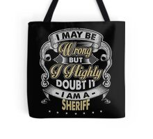 SHERIFF COVERS Tote Bag