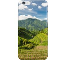 Landscape of rice terraces in china iPhone Case/Skin