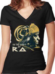 Sun Ra T-Shirt Women's Fitted V-Neck T-Shirt