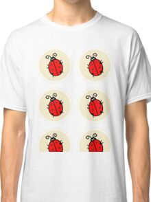 Coccinelle Ladybug pattern vector lady beetle Throw Pillow  Classic T-Shirt