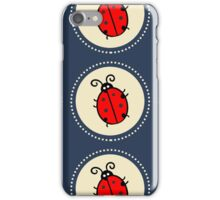 Coccinelle Ladybug pattern vector lady beetle Throw Pillow  iPhone Case/Skin