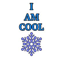 I Am Cool Snowflake Photographic Print