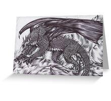 Black dragon 1 Greeting Card