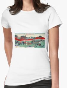 Horse Drawn Carriage On Railroad Tracks - anon - 1882 - woodcut T-Shirt