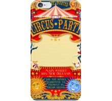 Circus 01 Invitation Vintage 2D iPhone Case/Skin