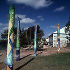 Fishy Totems,Streaky Bay, Australia 2002 by muz2142
