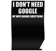I DON'T NEED GOOGLE Poster