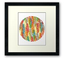 Flame Feathers Tile print Framed Print