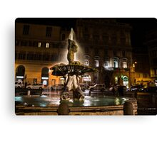 Rome's Fabulous Fountains - Fontana del Tritone Canvas Print