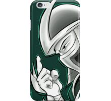 The Shredder - Technodrome Control-screen Blue-Green   iPhone Case/Skin