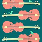 Birds on Cello Strings by Jazzberry Blue by JazzberryBlue