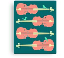 Birds on Cello Strings by Jazzberry Blue Canvas Print