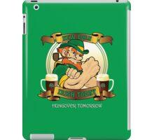 St Patricks Day - New Born Irish Today Hungover Tomorrow iPad Case/Skin