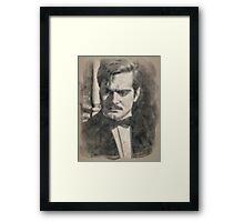 Omar Sharif by John Springfield Framed Print