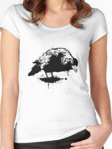 ink crow Women's Fitted Scoop T-Shirt